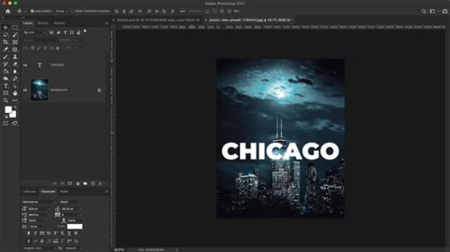 Photoshop Text Effect Tutorial {Skyline}