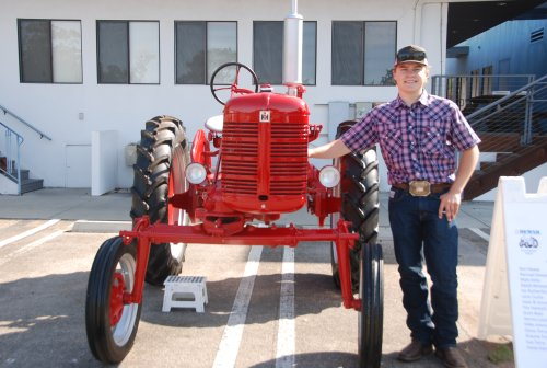 Local high school students win tractor restoration competition