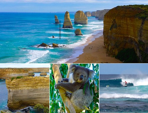 Great Ocean Road - Die Highlights: Küste, Felsen, Koalas, Surfen, Strände, Parks - Passenger On Earth