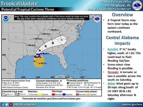 Tropical Storm Claudette Nears Alabama Coast