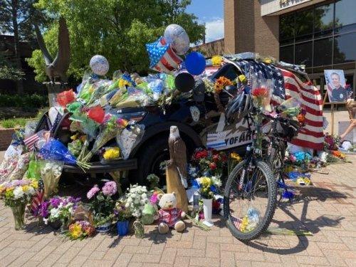 Memorial For Arvada Police Officer Gordon Beesley Grows