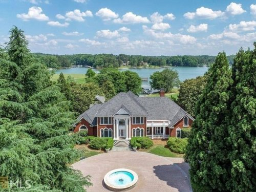 $3.25M Cumming Home Sits On Lake Lanier, Private Boat Dock