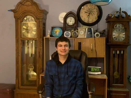 Clock Collection Helps Connect Edison Student To The World