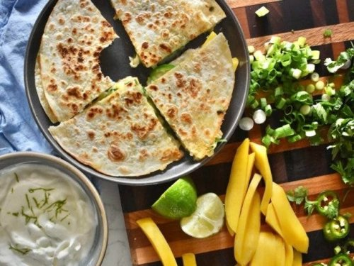 Mango-Brie Quesadillas + Creamy Lime Sauce: Cooking With Courtney