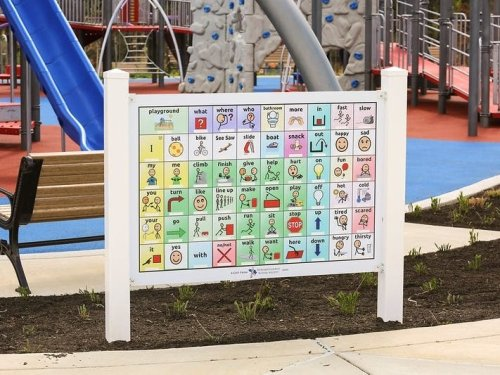 Nonverbal Communication Boards Installed At New HoCo Playground