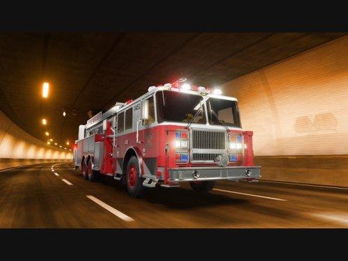 Car Fire In Progress Along Southbound 170 Freeway