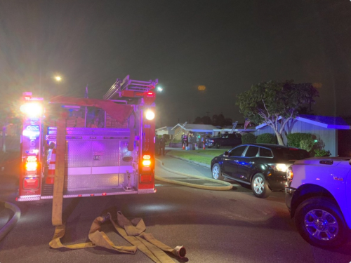 Orange County Firefighters Rescue Family Pets From House Fire