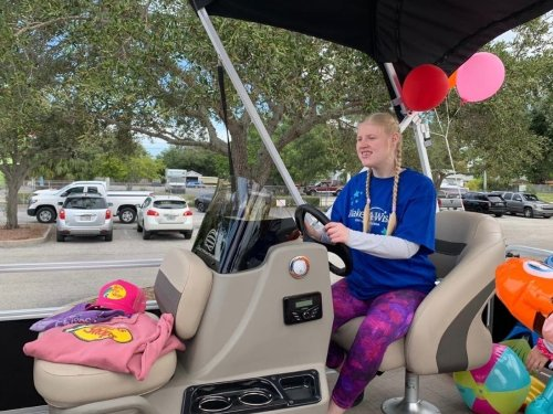 Make-A-Wish Gifts Boat To Sarasota Teen With Medical Conditions, Her Family