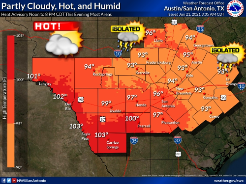 Heat Advisory Issued For Austin Metro