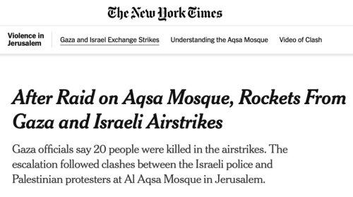 New York Times, Washington Post, BBC, Etc. Blame Israel for Hamas War Crimes