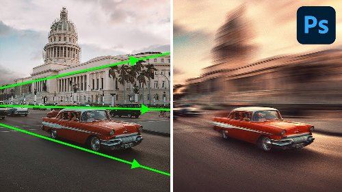 How to create realistic perspective motion blur in Photoshop - DIY Photography