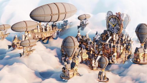 This Minecraft steampunk city took a team seven months to build