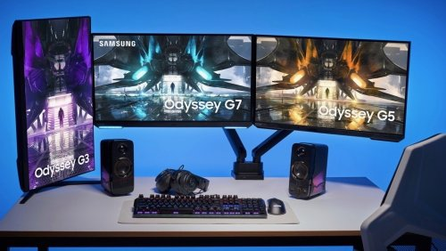 Samsung's Latest Odyssey Monitors Drop the Curves for Flat Screens