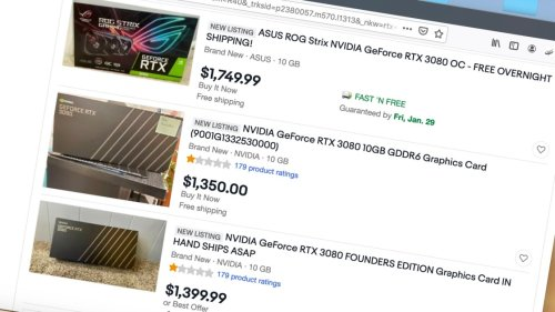 Scalpers Have Sold 50,000 Nvidia RTX 3000 GPUs Through eBay, StockX