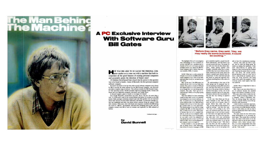 Here's What Bill Gates Told PCMag About the IBM PC in 1982