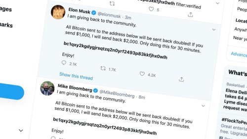 Huge Twitter Hack Hits Accounts of Elon Musk, Bill Gates, Obama, More