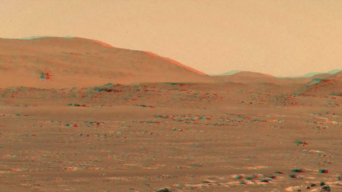 Watch NASA's Historic Ingenuity Helicopter Flight on Mars in 3D