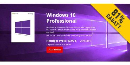 Windows 10 Pro für nur 49,99 Euro - noch für kurze Zeit