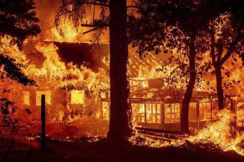 California wildfires merge, burn homes as blazes scorch western U.S.