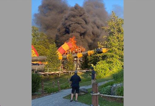 Fire damages water slide at N.J. amusement park