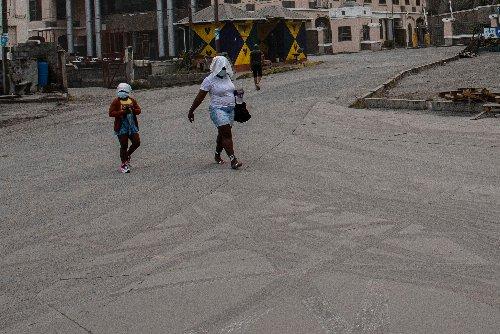Caribbean volcano sends residents fleeing amid heavy ashfall, loud rumbling