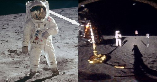 Unwrapping Buzz Aldrin's Visor in Moon Photo Reveals What He Saw