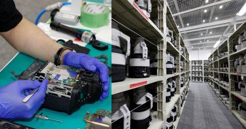 Inside Canon's Impressively Stocked Olympic Pro Camera Service Facility