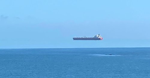 'Floating Ship' Photographed in the Sky Off the U.K. Coast