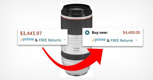 Amazon 'Fixes' Overpricing New Canon Lens by Increasing Price Further