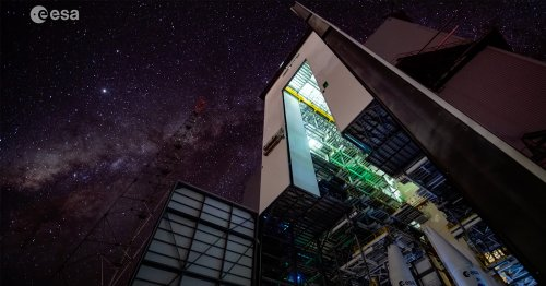 Gorgeous Starlapse Shot From Upcoming Launch Site of Ariane 6 Rocket