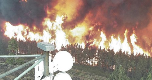 Wildfire Camera Captures Itself Getting Engulfed by Flames
