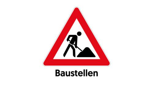 Wasserleitungsarbeiten in der Habermehlstraße