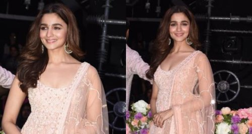 Alia Bhatt dazzles in a tangerine lehenga in THIS throwback pic; Don't miss her funky sunglasses