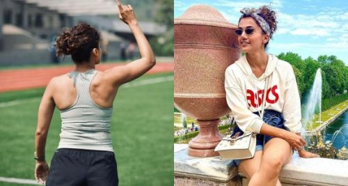 Taapsee Pannu flaunts her athlete bod as she continues shooting for cricket biopic Shabaash Mithu