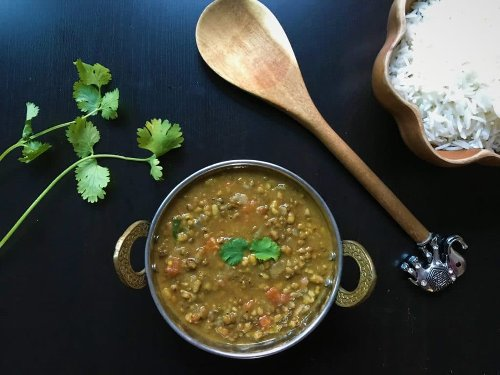 Green Moong Dal / Green Lentils - Instant Pot & Stovetop