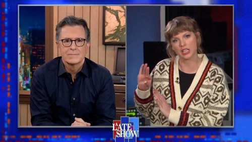 "Watch Taylor Swift Tell Stephen Colbert That ""Hey Stephen"" Isn't About Him"