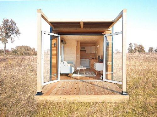 Cette mini maison française de 18m2 sans fondations est l'atout de votre jardin ! (plan inclus) - PLANETE DECO a homes world