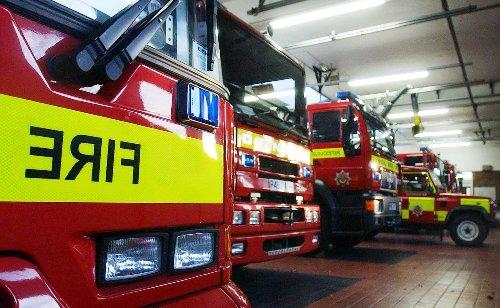 Fire crews tackle Highbridge industrial estate blaze