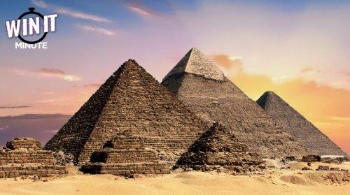 Win it Minute: What colour were the pyramids at Giza originally?