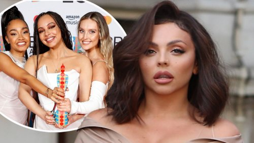 Jesy Nelson reacts as Little Mix make history at The BRIT Awards