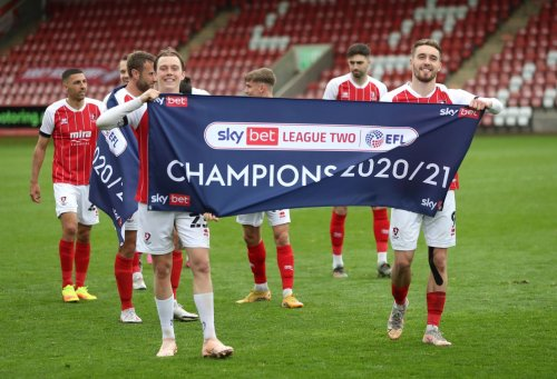 Cheltenham Town promoted as champions from League Two - Forest Green Rovers will hope to join them