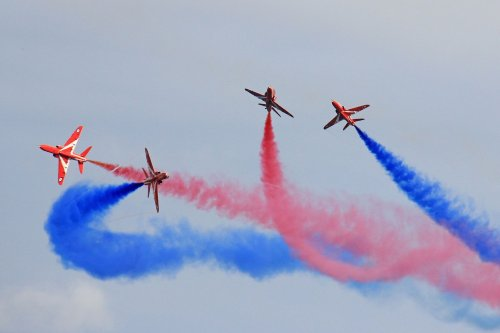 Red Arrows to fly over Cornwall tonight for the G7 world leaders