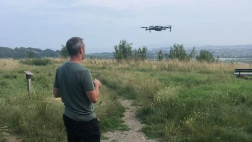 Weymouth Police use drone to search for scrambler bikes