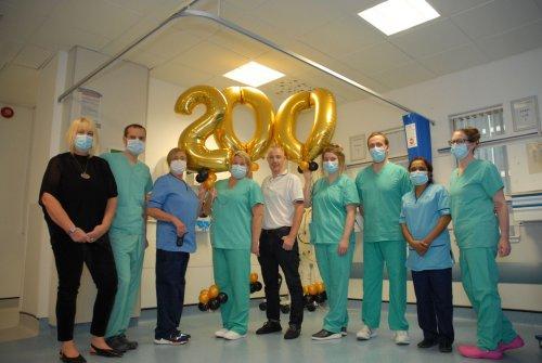 NHS Grampian cardiology team hit a milestone