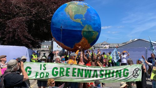 Extinction Rebellion hold huge climate change protest in Falmouth