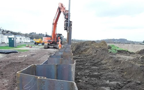 400m flood defence wall installed in Bridport