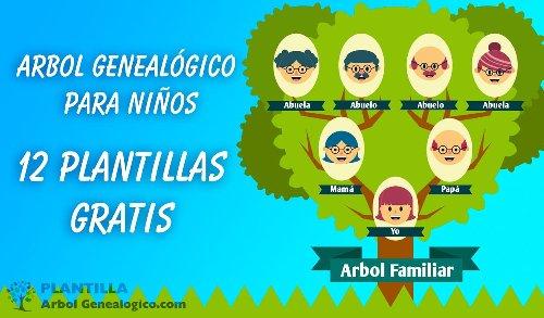 ▷ Árbol Genealógico para Niños ➡️ 12 Plantillas y otros Recursos
