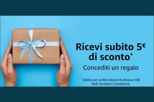 Concediti un regalo con Amazon: la promozione che da 5 Euro di sconto sul prossimo acquisto