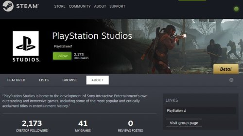 PlayStation PC Games Now Have Their Own Steam Curator Page