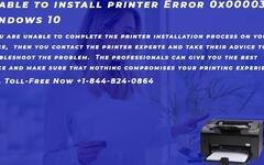 Unable to install printer Error 0x00003eb Windows 10